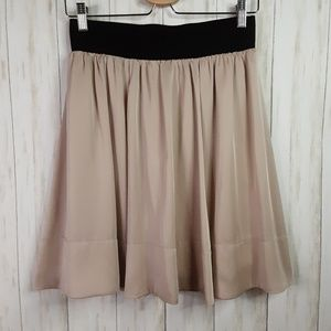 H&M Mini Skater Style Taupe Skirt Lined Sz 8